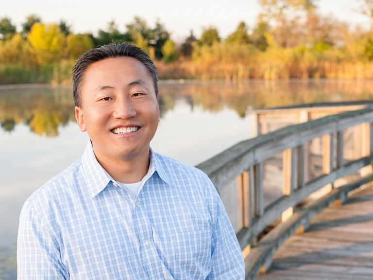 Dr. Sang Kwon at the Park
